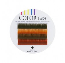 Color LASH BROWN MIX, hnědé řasy