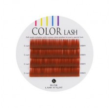 Color lash RED-BROWN, červeno-hnědé řasy